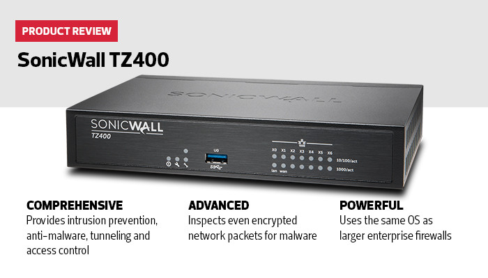 Review of SonicWall TZ400
