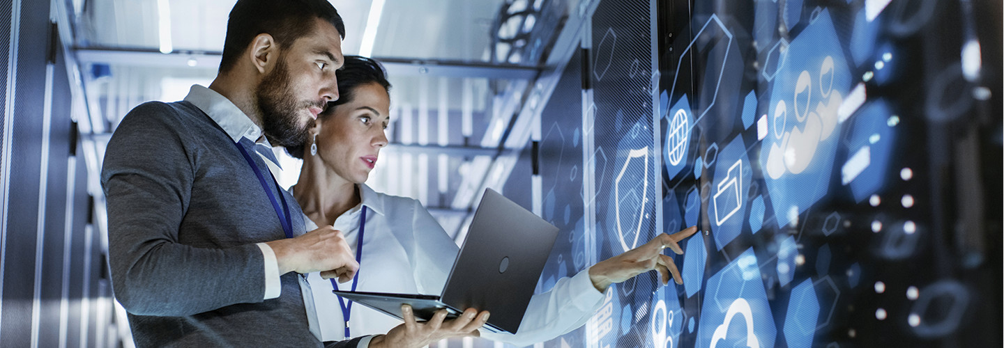 Technology consultants in data center