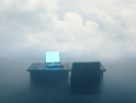 Fog computing concept art
