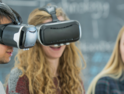College kids using virtual reality