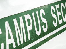 Campus security sign