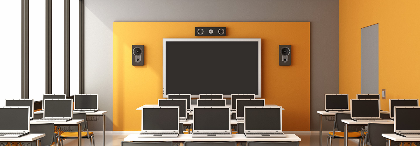 Classroom with computers