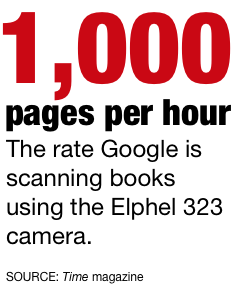 Google scans 1,000 pages per hour