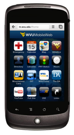 West Virginia Mobile Website
