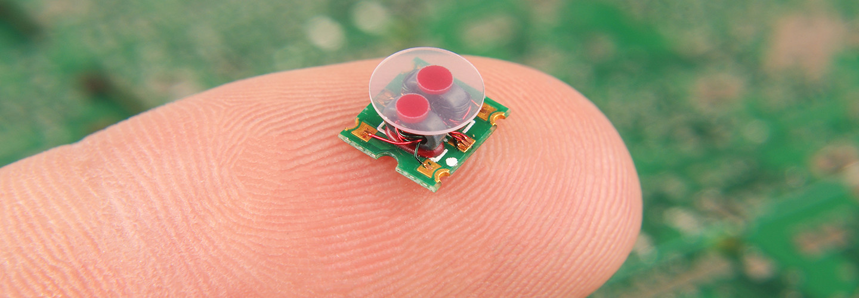 Sensor on a finger