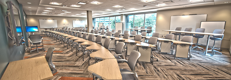 Modern university classroom