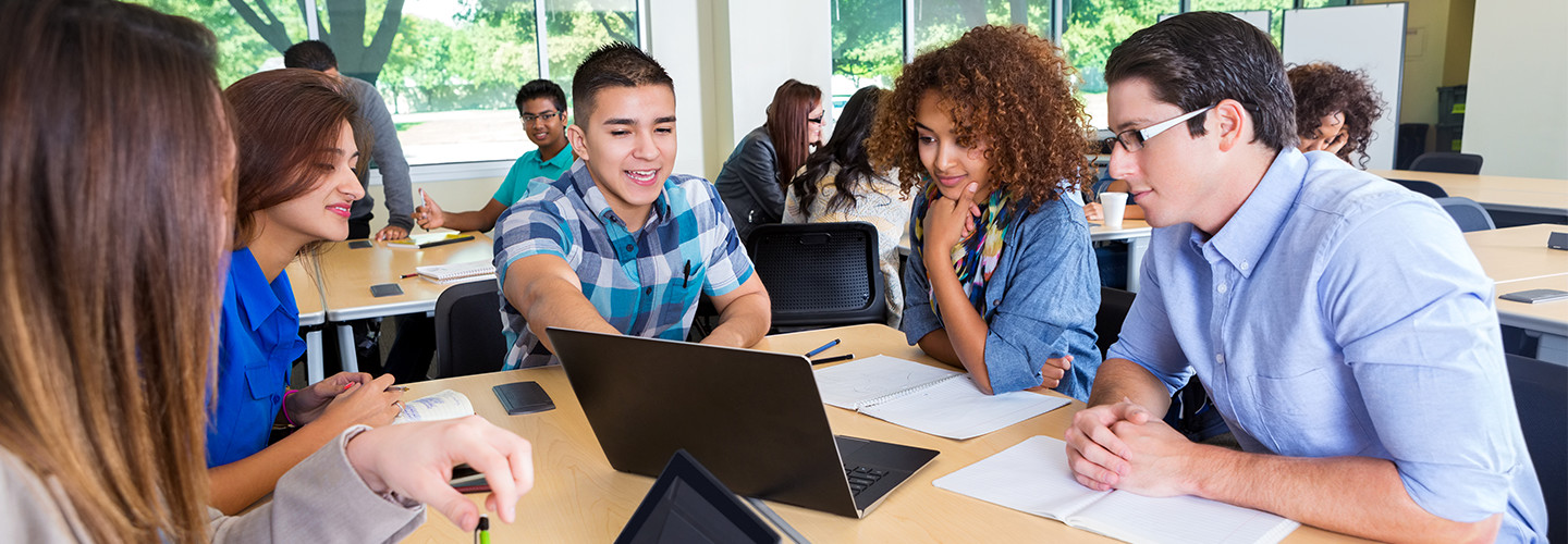 Students using personal devices