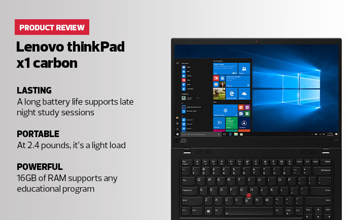 Lenovo ThinkPad X1 Carbon Engages Remote Learners