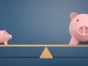 Small piggy bank vs big