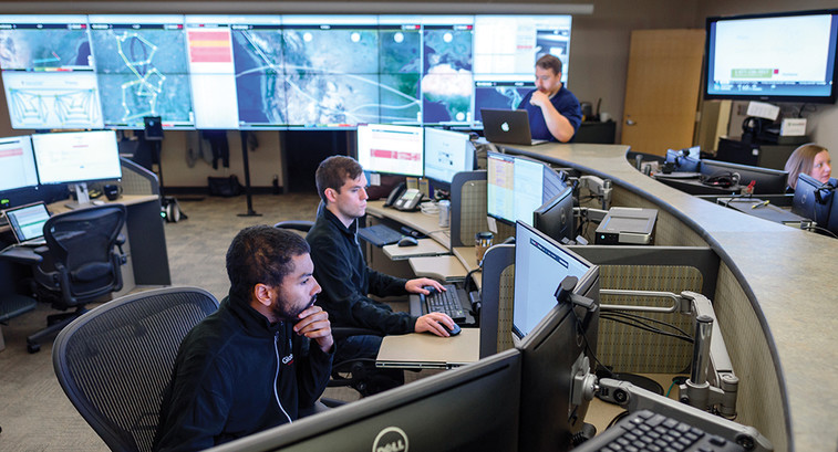 Security Team in Action at Indiana University