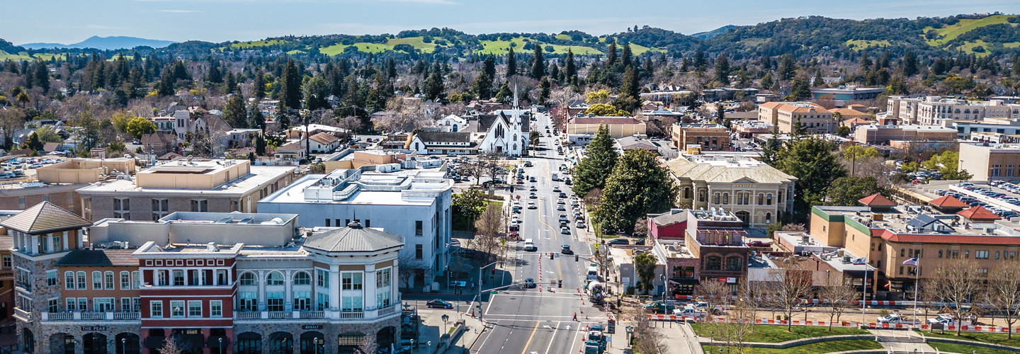 Napa Valley California where students returned for hybrid learning