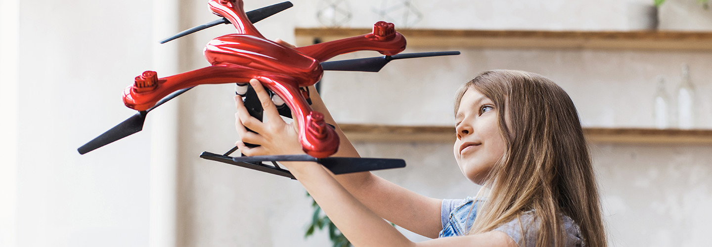 Drone and kid