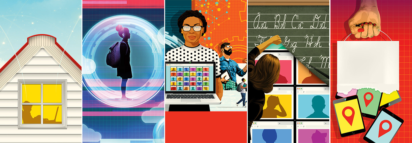 illustrations of remote learning