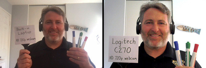 Webcam Comparison Logitech C270
