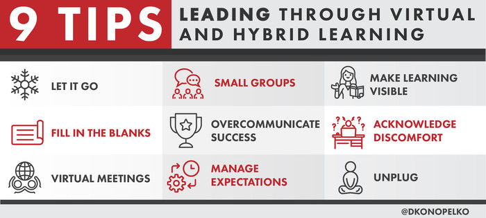 9 Tips for Leading Through Virtual and Hybrid Learning
