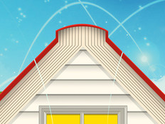 Illustration of house with open book as the roof to display theme of remote learning.