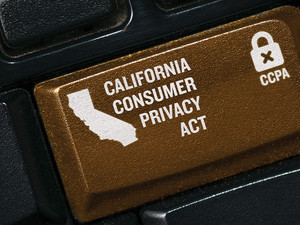 California Consumer Privacy Act on keyboard