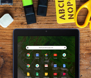 Tablet on desk