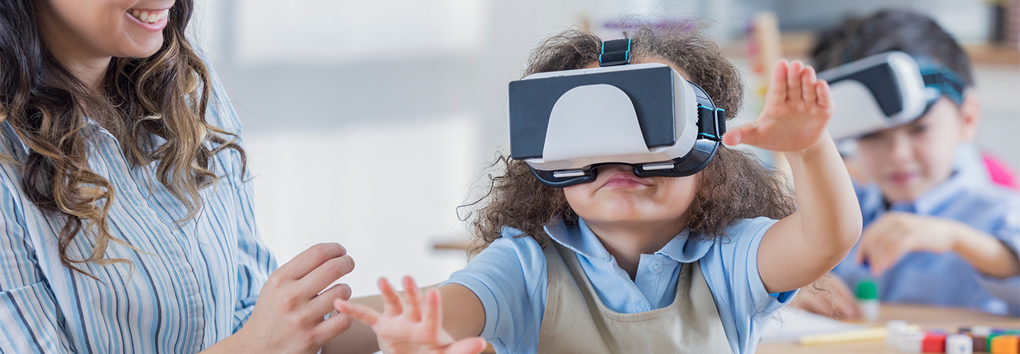 Girl with VR