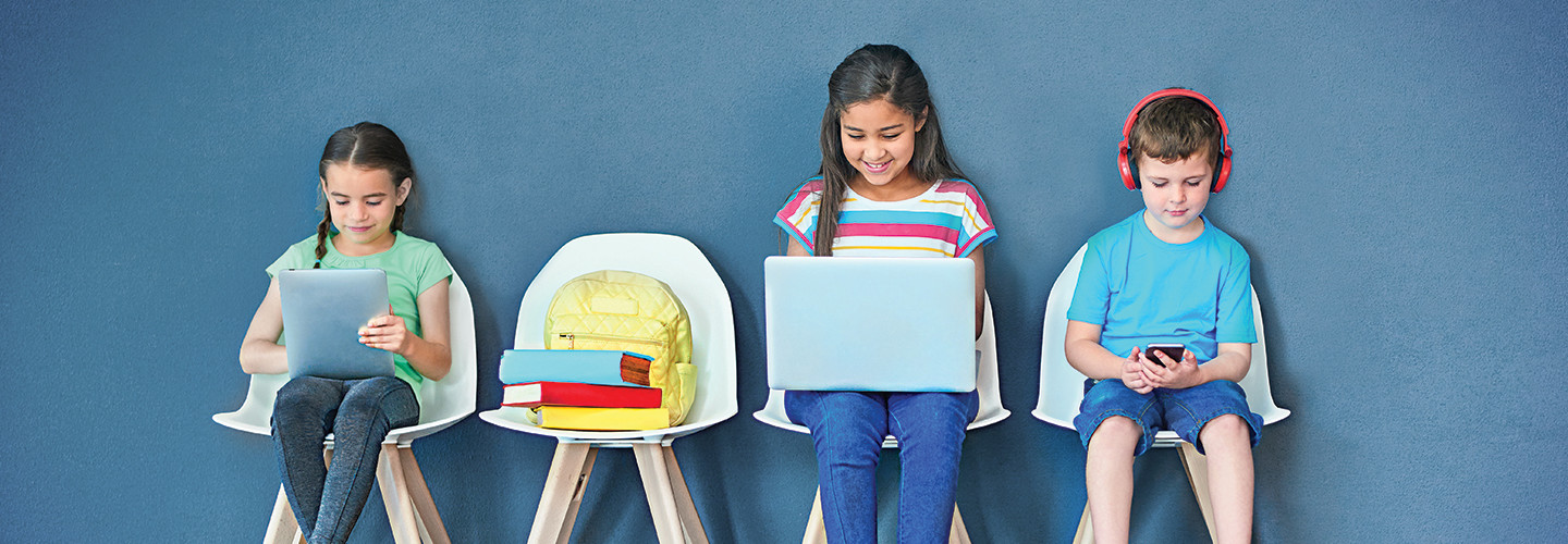 Kids remote learning with education technology