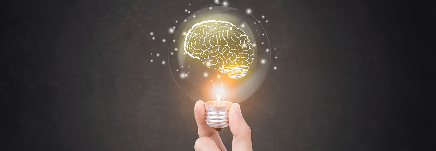 Lightbulb and brain