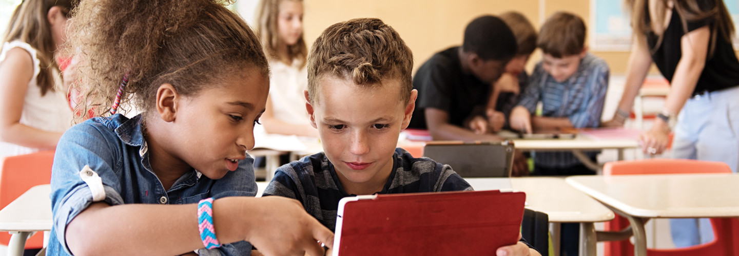 Students using Ed Tech in the Classroom