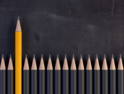 Pencil above other pencils