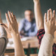 classroom raised hands