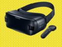 VR on Yellow background