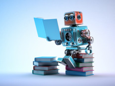 robot learning on books