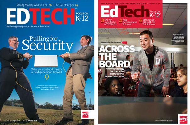 Old and new EdTech magazine