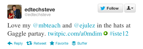 Edtech Steve tweets from ISTE