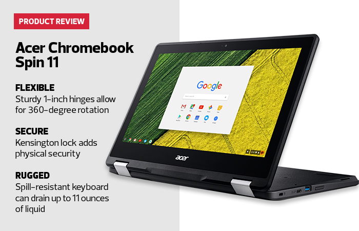 Review: Acer's Chromebook Spin 11 Is Military Tough | EdTech
