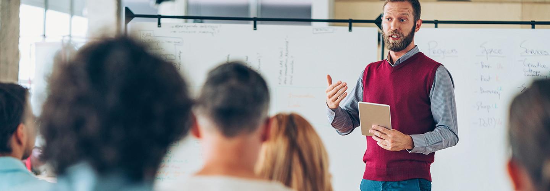 teacher teaching teachers to teach with tech
