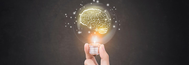 Lightbulb and brain