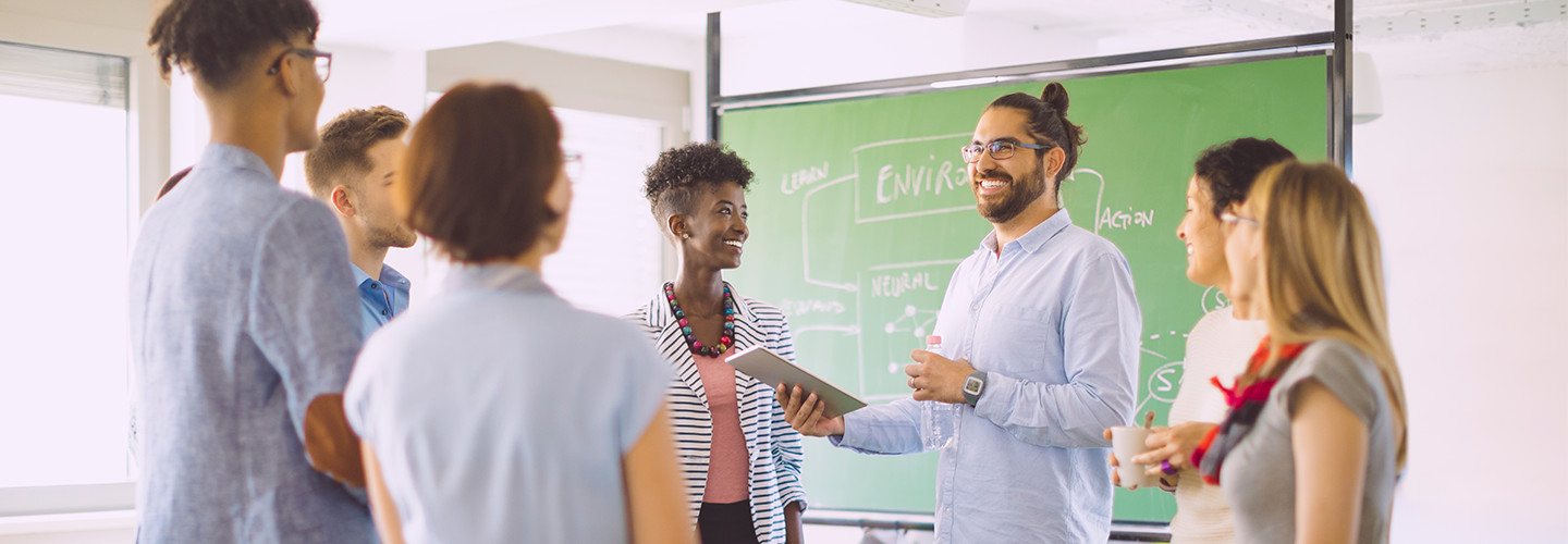 teachers working to evaluate and learn classroom technology