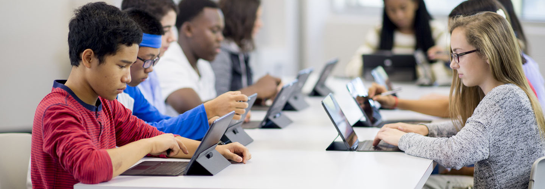 High School students computer training