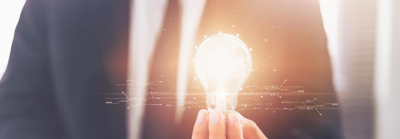 K12 leader holding lightbulb future of learning
